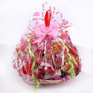 The Happy Birthday Gift Basket Is Filled To Overflowing With A Fantastic Selection Of Sweets Chocolates Snacks Crackers Two Soft Drink And So On